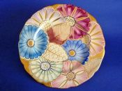 Superb Gray's Pottery Art Deco Floral Wall Plate c1937